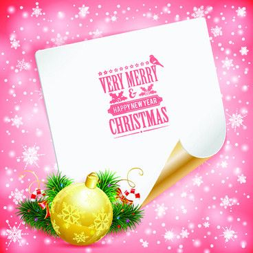 Blank paper christmas greeting card vector Free vector in ...
