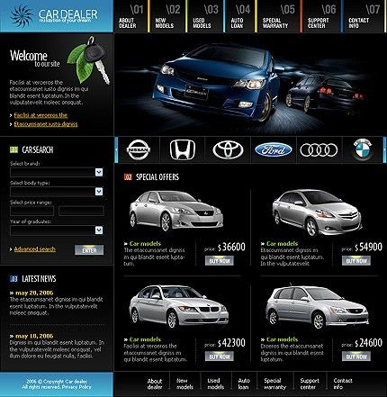 Car Auto Dealer Website Templates