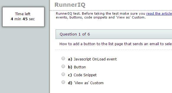 Quiz template for PHPRunner, ASPRunnerPro, ASPRunner.NET