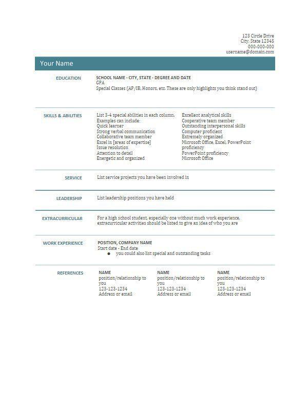 Resume Template Google Docs/resume Templates Google In Resume ...