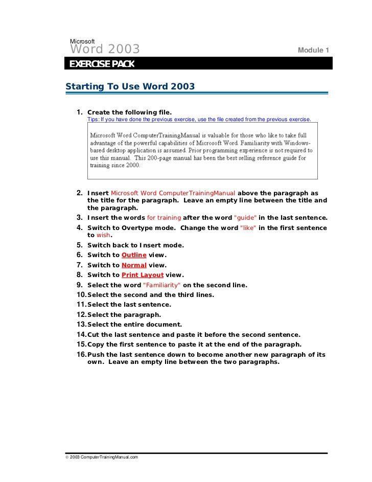 Word Exercises (1)