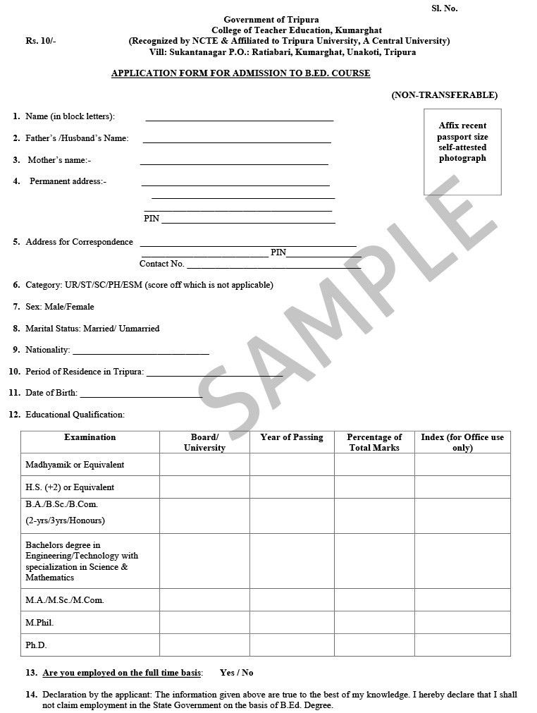 Sample Of Admission Form School Admission Form Free Printable – School Admission Form Sample