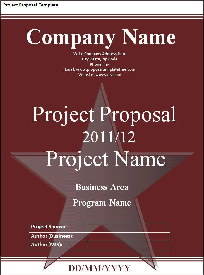 Project Proposal Template - Word Excel PDF