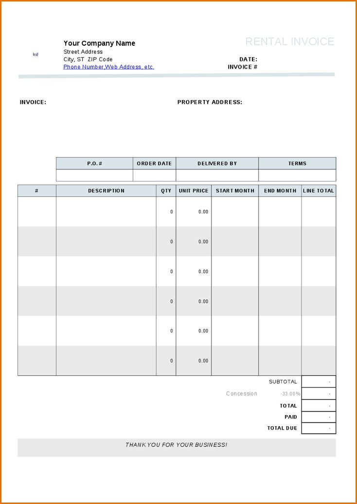 10+ rent invoice template | Job Resumes Word