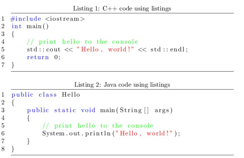 Displaying code in LaTeX documents « timmurphy.org