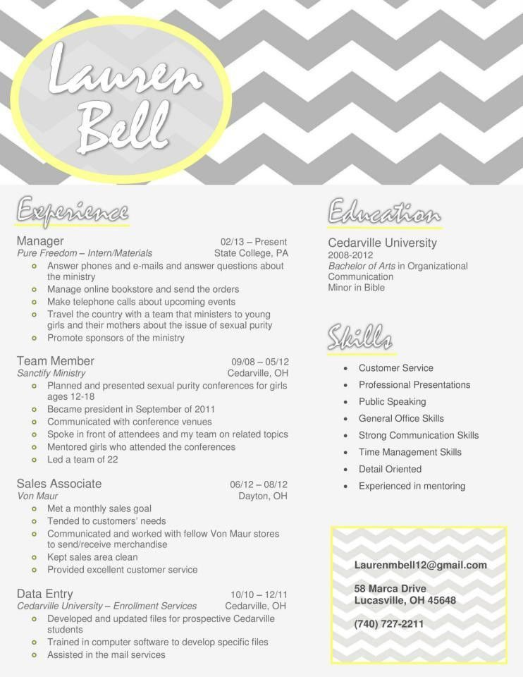 My resume design in gray and yellow. Buy the template for just $15 ...