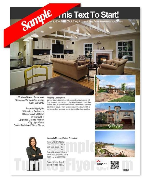 Here, Try this Real Estate Flyer Template Sample For Yourself