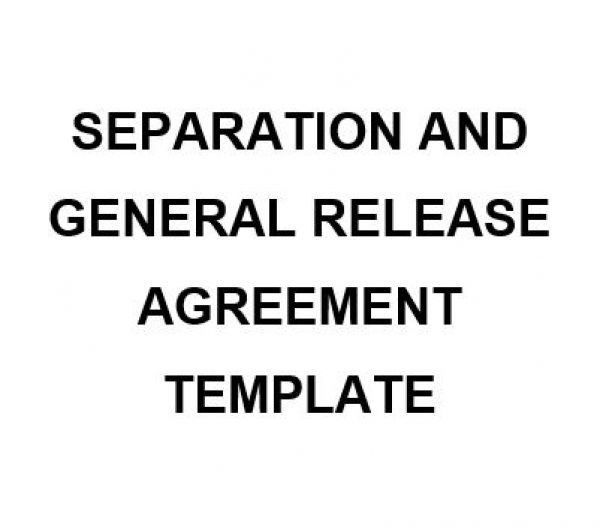 NE0222 Separation and General Release Agreement Template – English ...