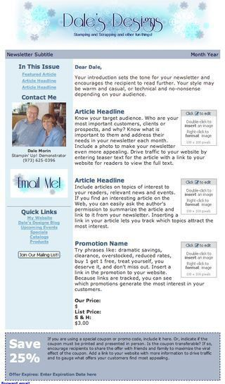Blogs By Heather: Recent Constant Contact Newsletter Design Templates