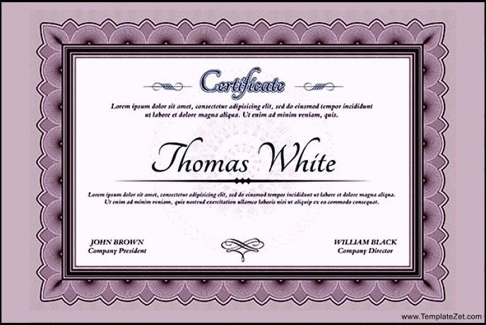 Graduation Certificate Wording | TemplateZet