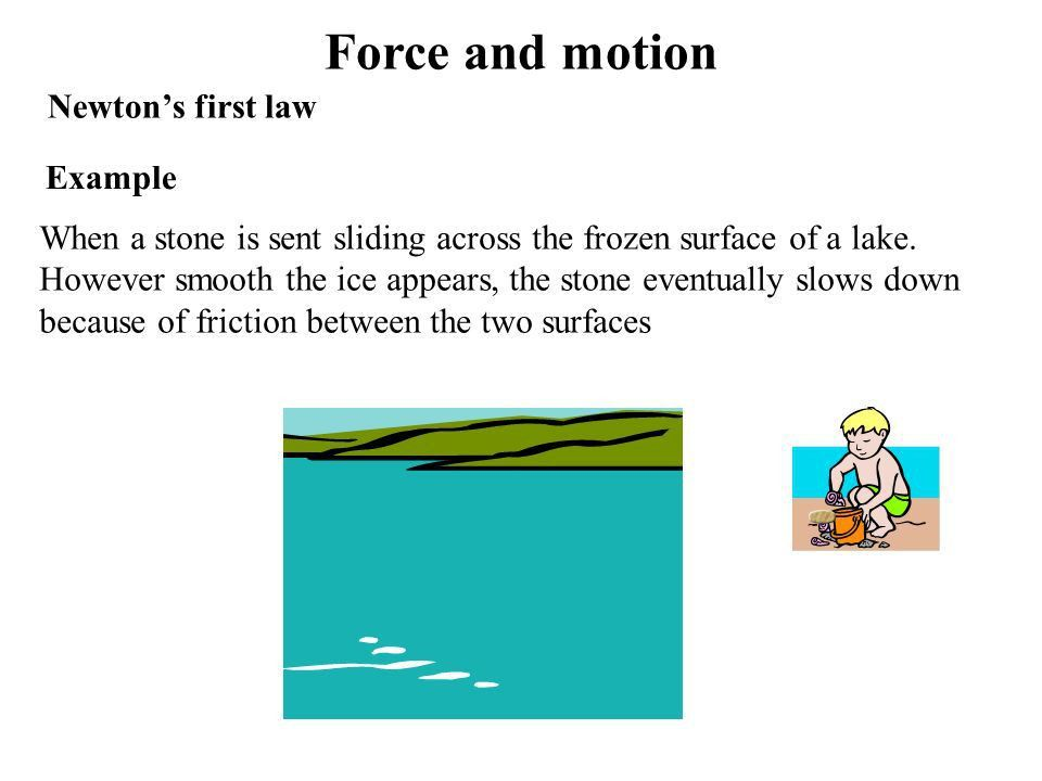 Force and motion Objectives When you have competed it, you should ...
