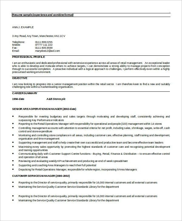 Sample Customer Service Resume - 8+ Examples in Word, PDF