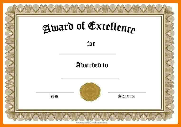 5+ awards certificates templates word | mailroom clerk