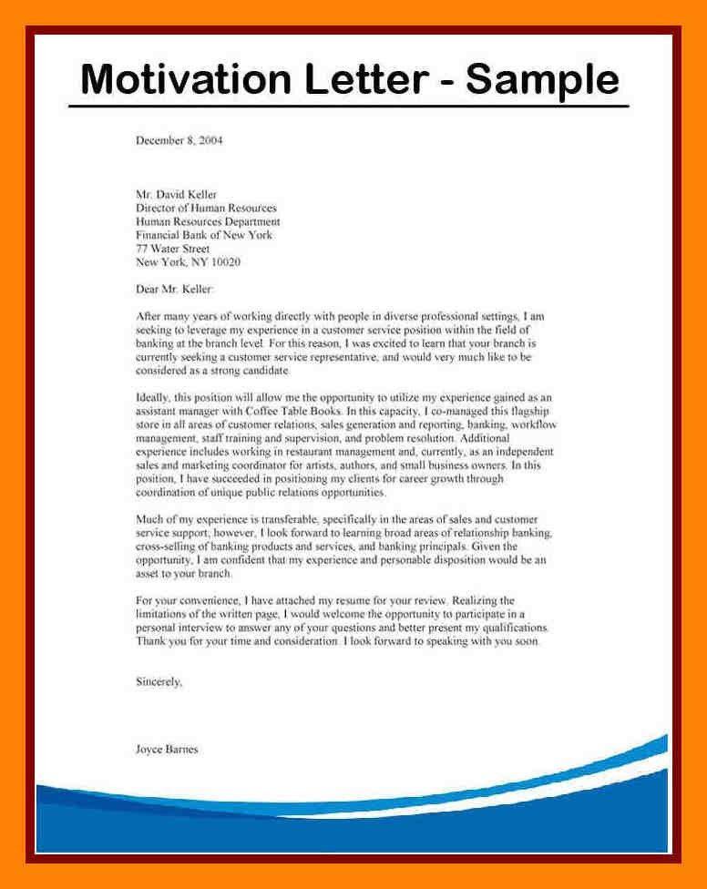 10+ motivational letter example | pattern resume
