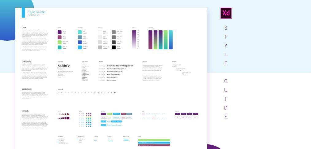 XD style guide template - XDGuru.com
