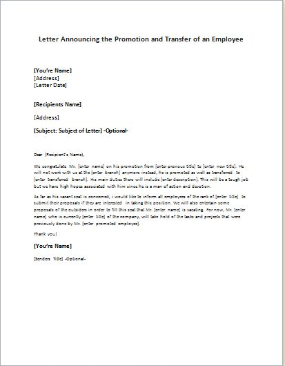 Formal, Official and Professional Letter Templates - Part 25