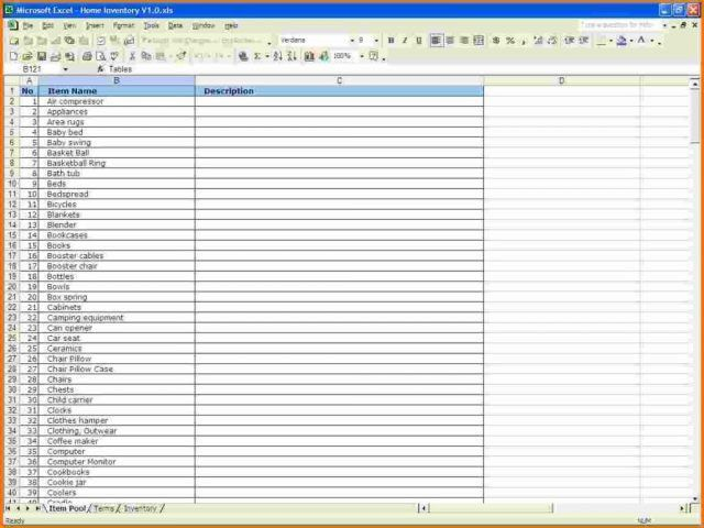 Supply Inventory Template. Supply Inventory - Instant Download Pdf ...
