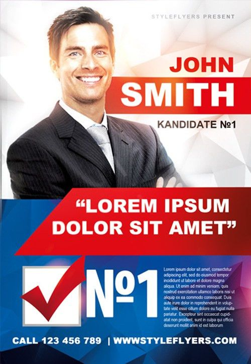 Campaign Flyer Template. Political Campaign Flyer Template ...