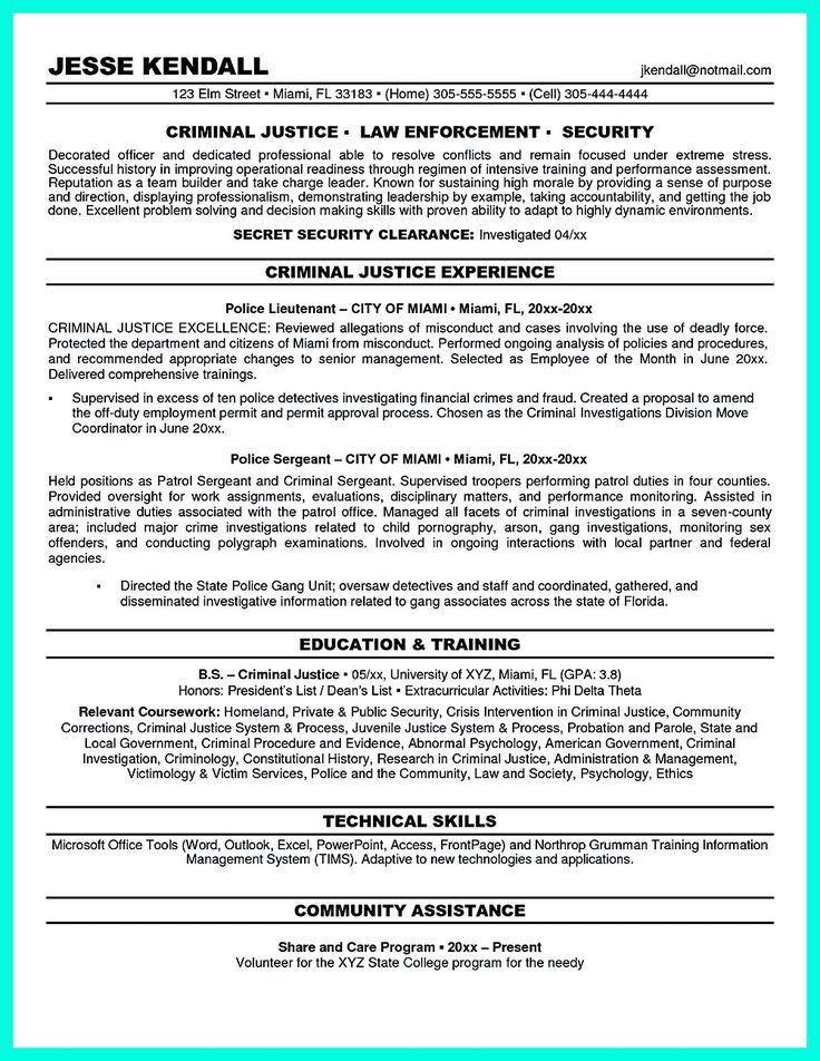 criminal justice resume samples justice resume example criminal