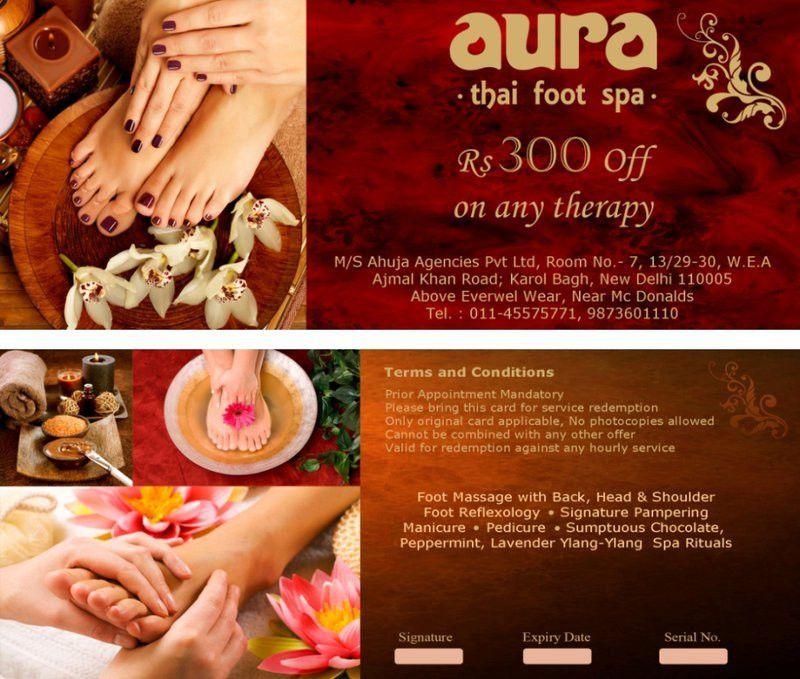 Aura Thai Spa Voucher Design by rahultathastu on DeviantArt