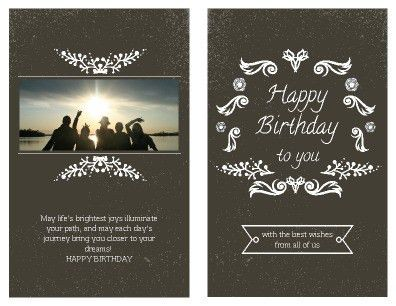 Printable Birthday Card Templates | PageProdigy – Print for $1