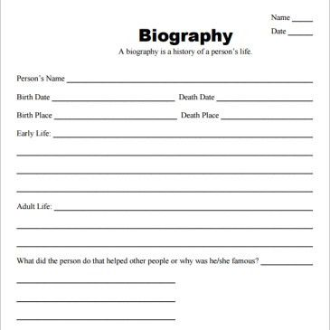 Free Biography Template online Archives - Word Templates