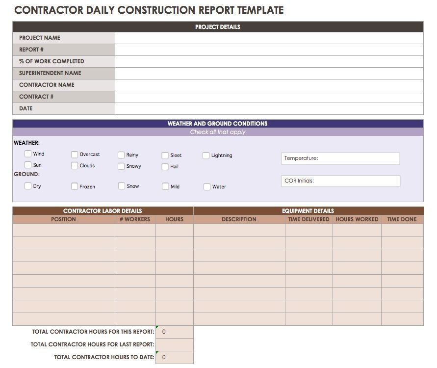 Construction Daily Reports: Templates or Software?|Smartsheet