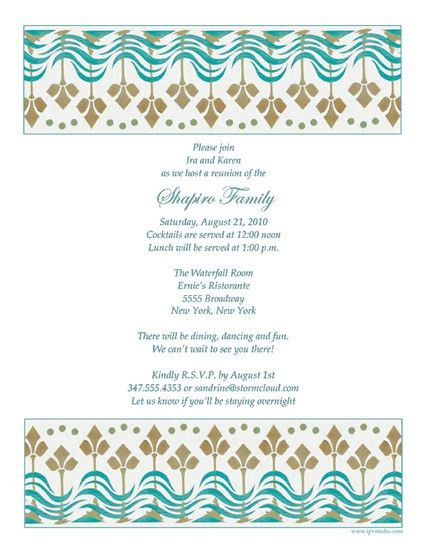 Family Reunion Invitation Letter | futureclim.info