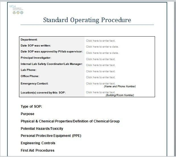 37 Best Standard Operating Procedure (Sop) Templates for Standard ...