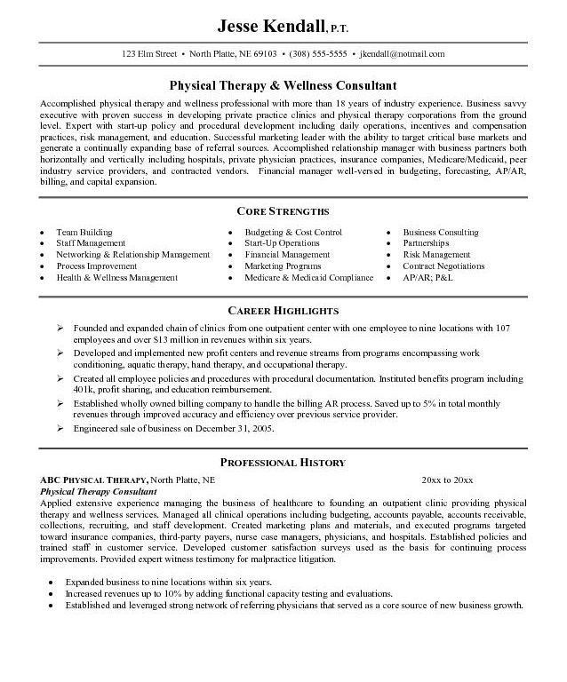 resume physical therapy assistant resume samples pta resume ...
