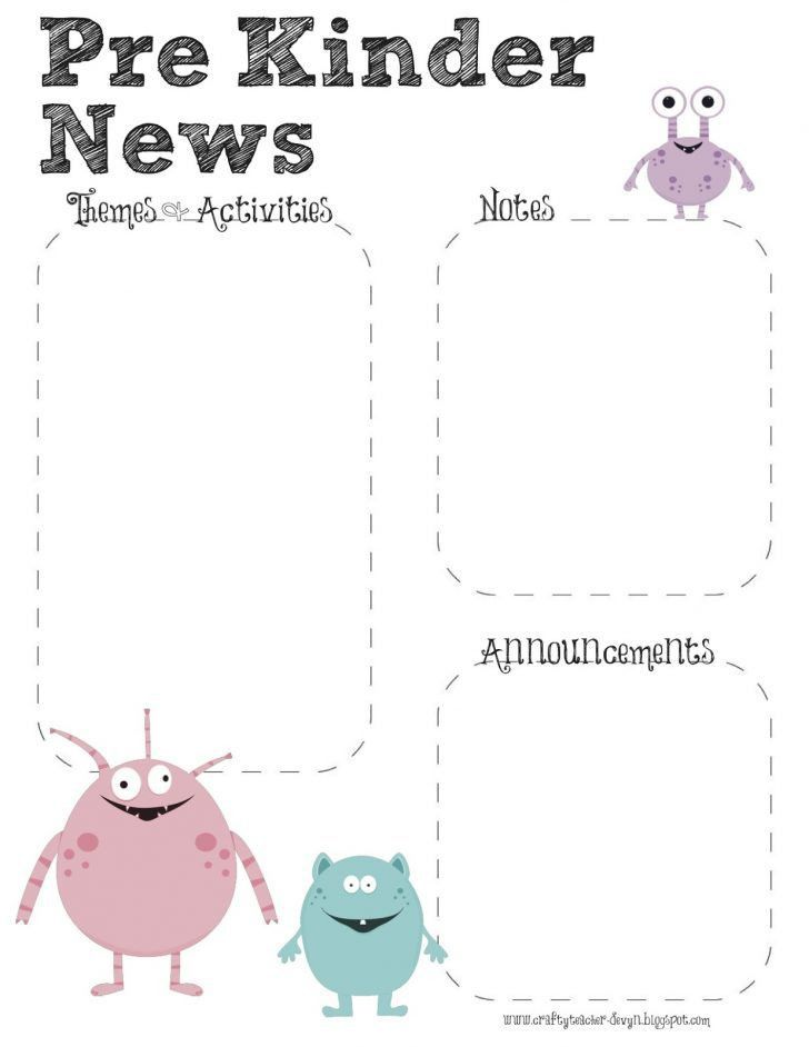 Awesome Preschool Newsletter Template | pikpaknews