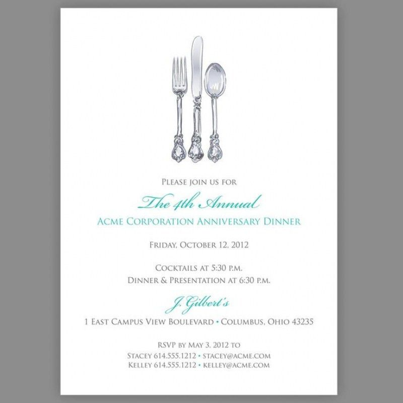 Business Dinner Invitation Template Sample Business Templates ...