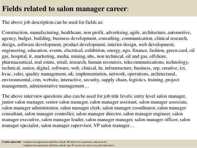 this example salon receptionist job description resume we will ...