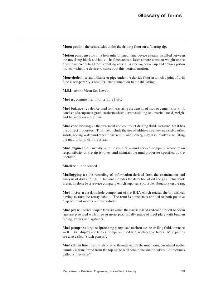 Heriot watt university--_drilling terminologies