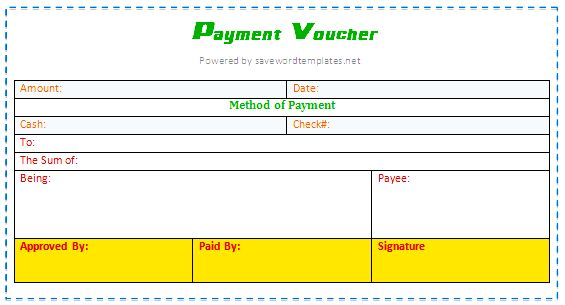 Use of Payment Voucher Format - Mr.Blogi