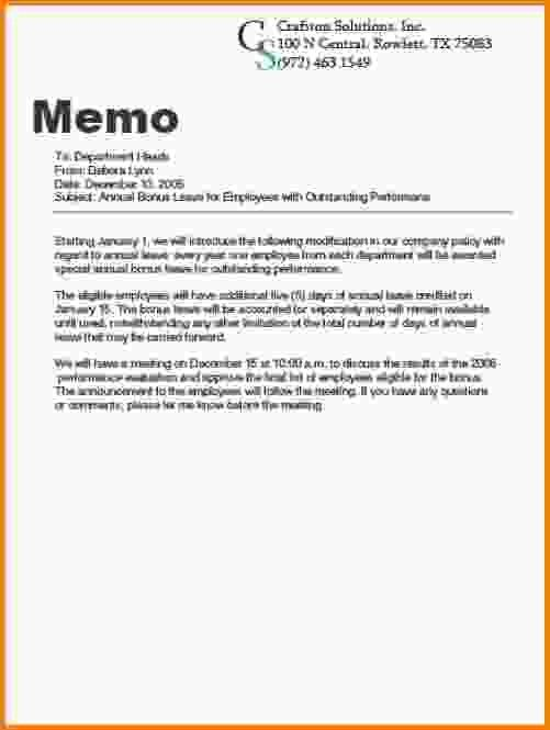 buisness memo