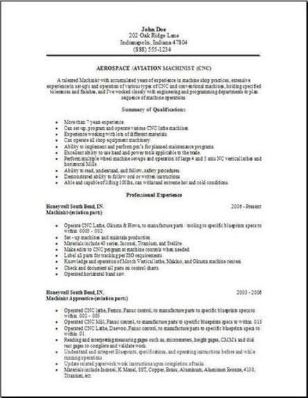 Aerospace Aviation Resume, Occupational:examples, samples Free ...