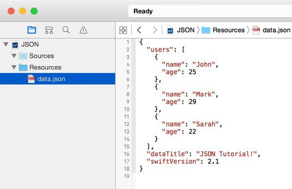 Working With JSON in Swift