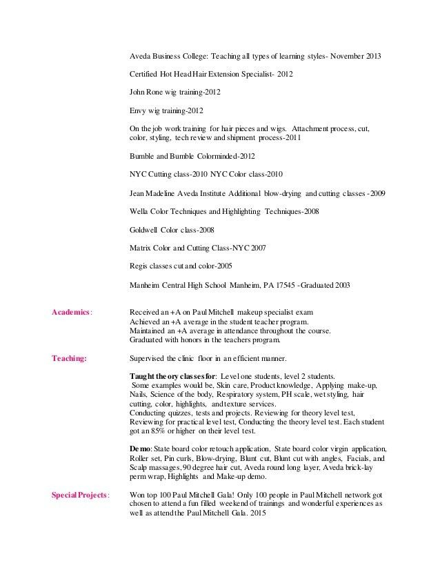 restaurant resume templates 11 beautician cosmetologist resume ...