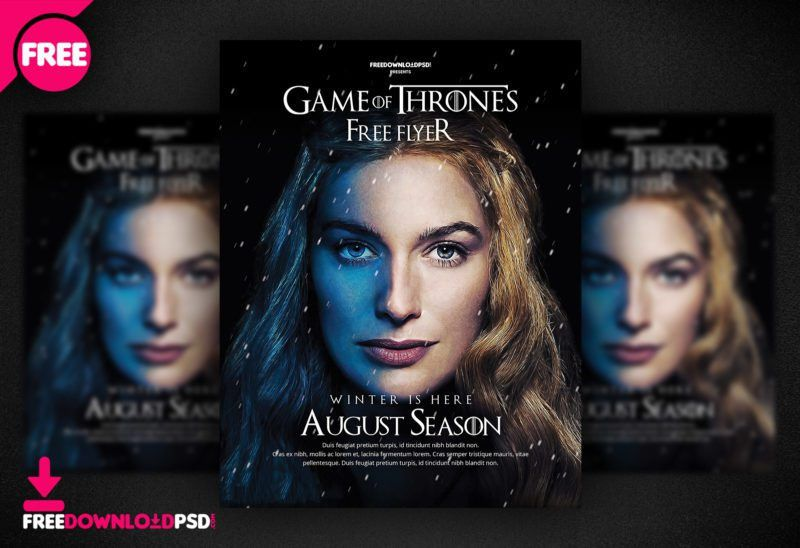 Game Of Thrones Free Flyer Template | FreedownloadPSD.com
