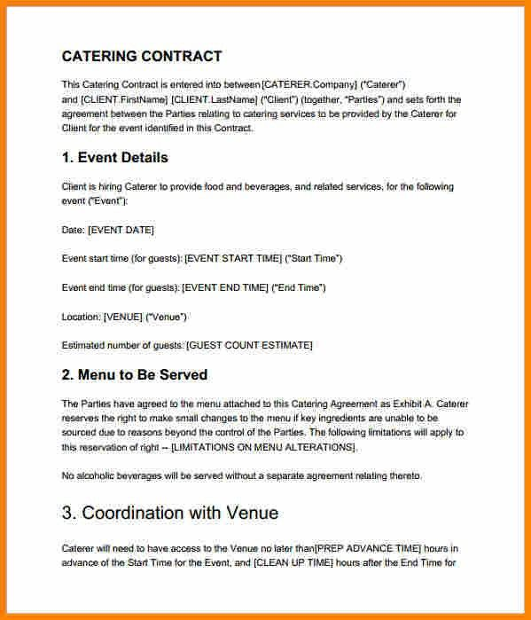Catering Contract. Catering-Contracts-Samples-Premium-Catering ...
