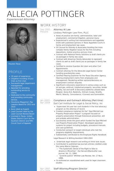 Law Resume samples - VisualCV resume samples database