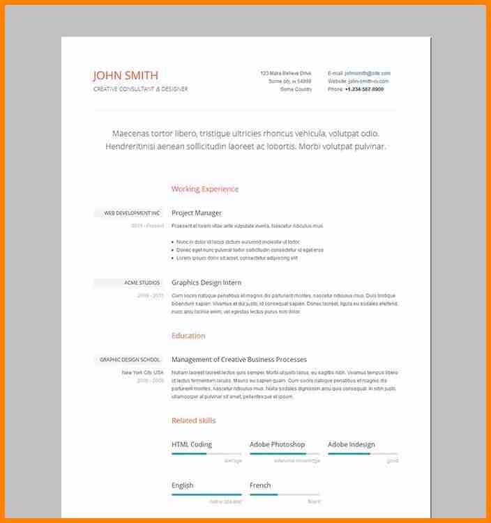 4+ concise resume template | lawyer-resume