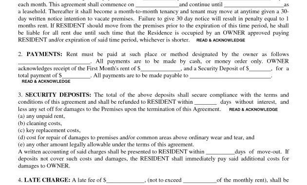 Lease Agreement Copy 10 Best Rental Agreements Images On – Rental Lease Agreement Sample