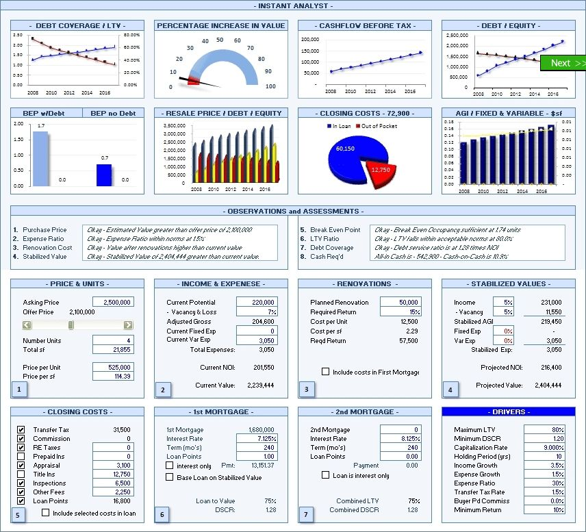 Realty Analytics 2008 Excel 2007 Download