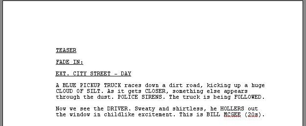 ScriptFaze: TV Script Format
