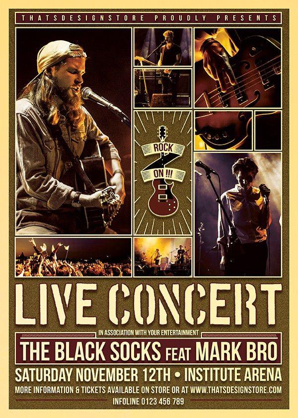 Live Concert Flyer Poster Template V.6   TDS