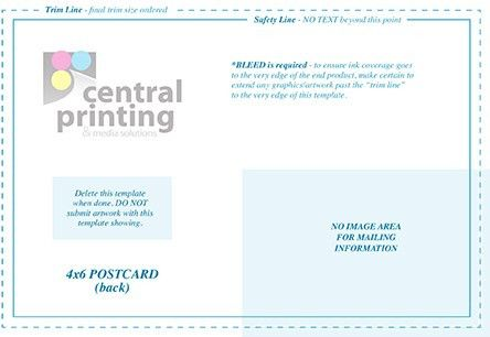 Direct Mail and Postcard Templates | Central Printing