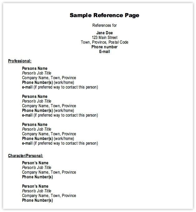 Download Resume With References Template | haadyaooverbayresort.com