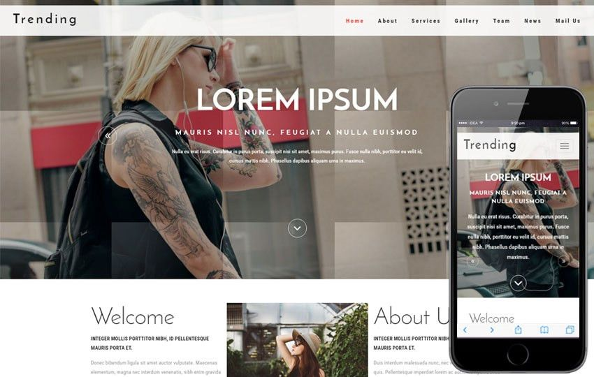 Blog Mobile website Templates
